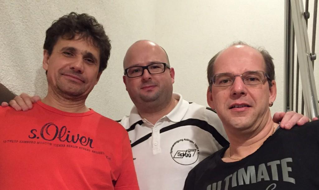 Führungsriege der AH: Micky Zorec, Marc Krasser & Joachim Strohm (von links)